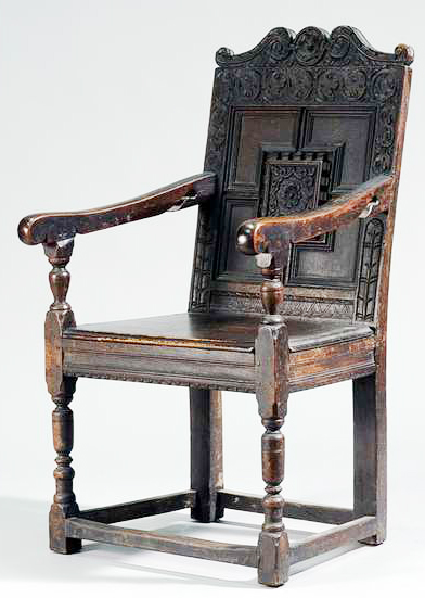The Chair Had Been Rebuilt A Hundred Or More Years Ago Using Some Original  Elements And Adding New Ones Made Out Of Old Wood.